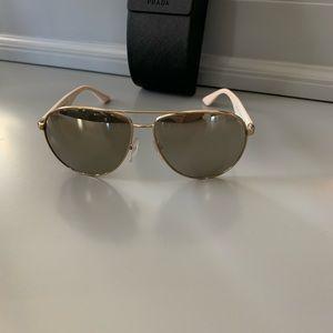 Authentic Prada Sunglasses Gold White